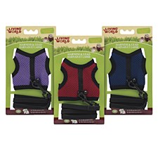 Living World Fabric Harness and Lead Set for Small Animals Medium