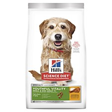 Hill's Science Diet Canine Adult 7+ Youthful Vitality for Small & Toy Breeds Chicken & Rice 1.5kg Dry Dog Food