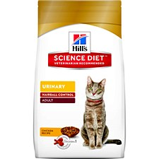 Hill's Science Diet Feline Urinary Hairball 3.1kg Dry Cat Food