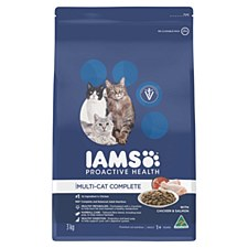 Iams Indoor Multi-Cat Complete with Chicken & Salmon 3kg Dry Cat Food