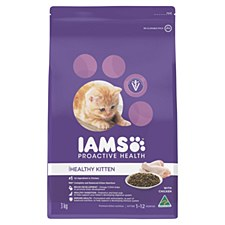 Iams Healthy Kitten with Chicken 3kg Dry Cat Food