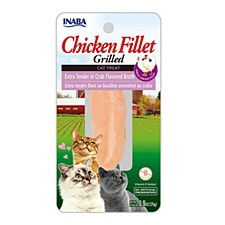 INABA Grilled Chicken Fillet in Crab Flavored Broth Cat Treat 15g
