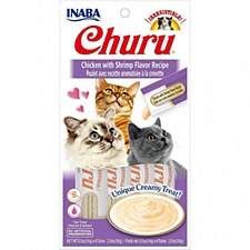 INABA Churu Chicken with Shrimp Recipe Cat Treat 56g