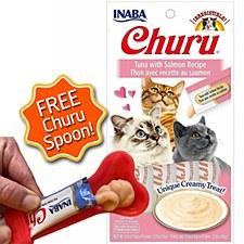 INABA Churu Tuna with Salmon Recipe Cat Treat 56g