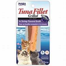 INABA Grilled Tuna Fillet in Shrimp Flavored Broth Cat Treat 15g