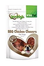 VitaPet JerHigh BBQ Chicken Chasers Dog Treats 100g