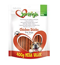 VitaPet JerHigh Chicken Sticks Dog Treats 400g