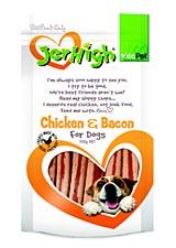 VitaPet JerHigh Chicken & Bacon Dog Treats 100g