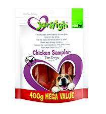 VitaPet JerHigh Chicken Sampler Variety Pack Dog Treats 400g