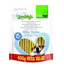VitaPet JerHigh Milky Sticks Dog Treats 400g