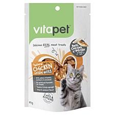 VitaPet Natural Chicken & Fish Bites Cat Treats 85g