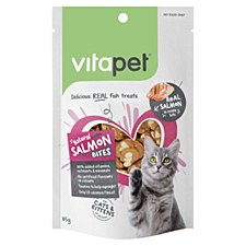 VitaPet Natural Salmon Bites Cat Treats 85g