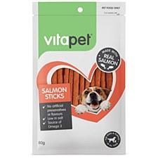 VitaPet JerHigh Salmon Sticks Dog Treats 80g