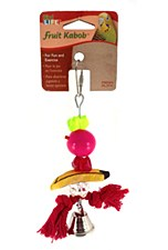 Penn Plax Wooden Fruit Kabob Small Bird Toy