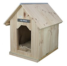 My House Pine with Pine Roof Medium Dog Kennel