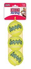 KONG Air Squeaker Tennis Balls Dog Toy Medium (3 Pack)