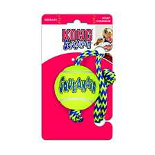 KONG Air Squeaker Ball with Rope Dog Toy Medium