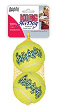 KONG Air Squeaker Tennis Balls Dog Toy Large (2 Pack)