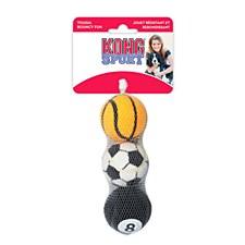 KONG AirDog Assorted Sport Balls Dog Toy Medium (3 Pack)