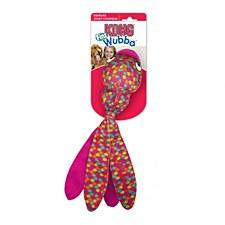 Kong Wubba Finz Pink Dog Toy Small