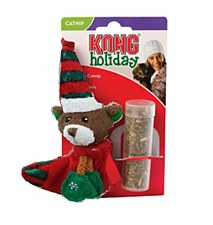 Kong Teddy Bear Christmas Stocking with Catnip