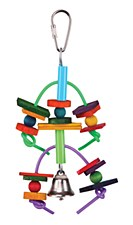 Kazoo Two Tier Log and Bell Small Bird Toy