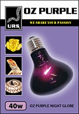 URS OZ Purple Night Globe Small 40W