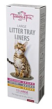 Trouble & Trix Cat Litter Tray Liners Large (15 Pack)