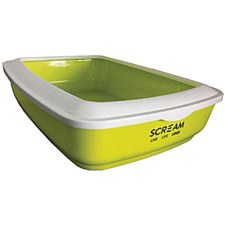 Scream Rectangular Green Cat Litter Tray
