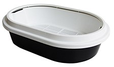 K9 Homes Litter Tray with Sieve and Scoop Black
