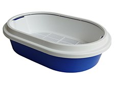 K9 Homes Litter Tray with Sieve and Scoop Blue