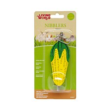 Living World Nibblers Corn Cob on Stick Large Small Pet Treat