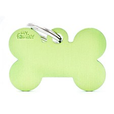 My Family Basic Bone Large Lime Pet Tag
