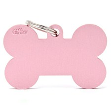 My Family Basic Bone Large Pink Pet Tag
