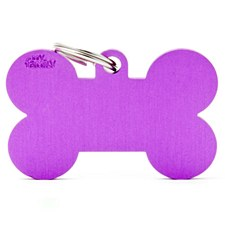 My Family Basic Bone Large Purple Pet Tag
