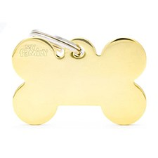 My Family Basic Bone Small Gold Pet Tag