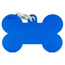 My Family Basic Bone Extra Large Blue Pet Tag