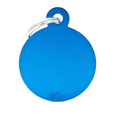 My Family Basic Circle Small Blue Pet Tag