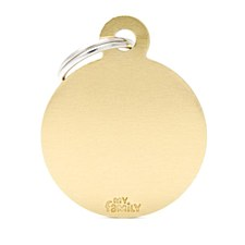 My Family Basic Circle Small Gold Pet Tag
