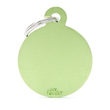 My Family Basic Circle Small Lime Pet Tag