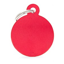 My Family Basic Circle Small Red Pet Tag