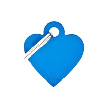 My Family Basic Heart Small Blue Pet Tag