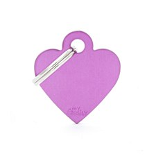 My Family Basic Heart Small Purple Pet Tag