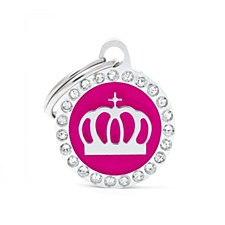 My Family Glam Crown Pink Pet Tag