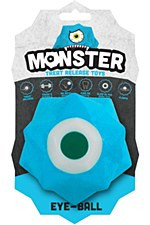Aussie Dog Monster Treat Release Ball Blue Dog Toy
