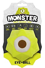 Aussie Dog Monster Treat Release Ball Green Dog Toy