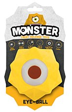 Aussie Dog Monster Treat Release Ball Yellow Dog Toy