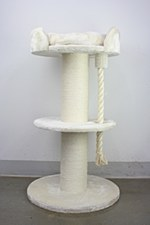 Montys Sisal 2 Platform 1 Rope 120cm Scratch Post