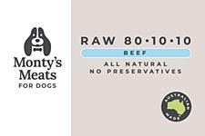 Montys RAW 801010 Beef 1kg Wet Dog Food