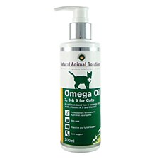 Natural Animal Solutions Omega Oil 3, 6 & 9 for Cats 200ml
